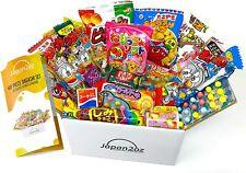 Japanese Candy Box Assortment & English Pamphlet 40 Dagashi Snacks & Sweets, Gum