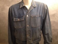 Men's Large VTG Ralph Lauren Polo Denim Blue Jean Dungaree Jacket Cropped Waist