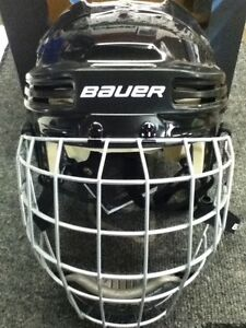 Bauer 4500 Black Bull Riding Rodeo Mutton Buster Helmet Combo *New*