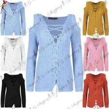 Camisas y tops de mujer de manga larga de poliéster