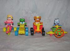 Vtg McDonalds Muppet Babies 1990 PVC Toy Figures - Kermit, Piggy, Fozzie, Gonzo