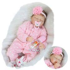 55cm Full Body Reborn Baby Dolls Silicone Waterproof Newborn Girl Accompany