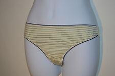Verdissima Brazil Stripe thong / Knickers Lemon JU36 Medium RRP £25