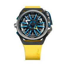 Mazzucato Rim Mens Watch Automatic Reversible Silicon Strap Yellow 06-YL654
