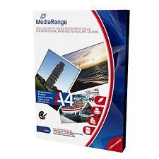MediaRange DIN A4 Fotopapier für Tintenstrahldrucker beidseitig matt 200g