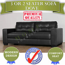 SOLD OUT Black PU Leather 3 seater Sofa Couch Modern Design for living room
