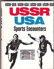 1977 RARE 1st Ed. USSR-USA Sports Encounters Russian Soviet book in English