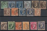 K3717/ GREECE – HERMES – 1872 / 1886 USED CLASSIC LOT – CV 650 $