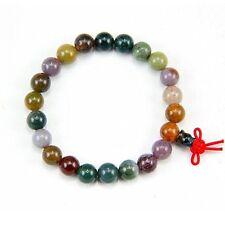 Stretchy Tibetan 21 8mm Indian Jade Yoga Meditation Prayer Beads Mala Bracelet
