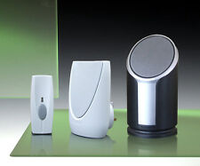 Byron Home & Garden Twin Plug-in and Portable Wireless Door Chime Kit.