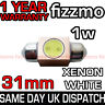 1w HIGH POWER SMD LED 269 C5W 31mm XENON WHITE NUMBER PLATE INTERIOR LIGHT BULB
