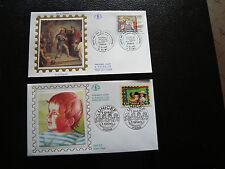 FRANCE - 2 enveloppes 1er jour 1996 (unicef-clovis) (cy21) french
