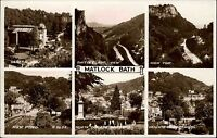 Matlock Bath Derbyshire England ~1930/40 Mehrbildkarte High Tor Gardens Landscap