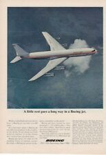 1967 Boeing Jet Plane flying in Air PRINT AD