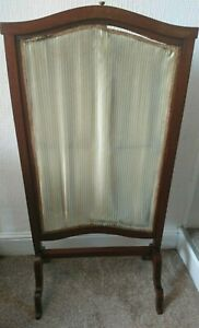 Edwardian Mahogany Framed Fire screen with Sliding Panel Circa 1910 or earlier