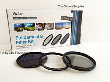 Filter Kit 72mm ND8 UV CPL Neutral Density CIRCULAR Polarizing Ultra-violet FKND