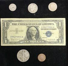 Old U.S. Coin Silver Collection With 1957 $1 Silver Certificate