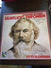 Johannes Brahms Sämtliche Sinfonien 4 LP Box Otto Klemperer