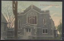 Postcard Waterloo New York/Ny St Paul's House Church view 1907