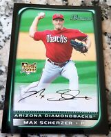 MAX SCHERZER 2008 Bowman Rookie Card Logo RC 5-1 HOT 3 CY Young 2 No Hitters