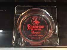 Vintage Glass Ashtray Advertising Bavarian Premium Beer Pottsville, Pa