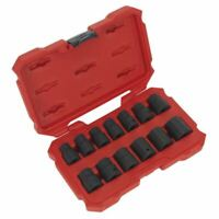 "Sealey AK5616M Impact Socket Set 13pc 1/2""Sq Drive Lock-On™ 6pt Metric"