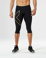 2XU Black/Gold MCS Thermal Compression 3/4 Workout Tights Men's Size XL 21006