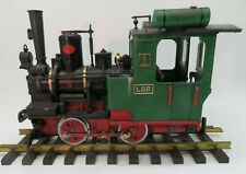LGB Spur G # 2010 Dampflokomotive 1 schwarz grün gealtert Frontlicht Figur OVP