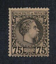 CKStamps: Monaco Stamps Collection Scott#8 Mint H OG Signed Tiny Tear