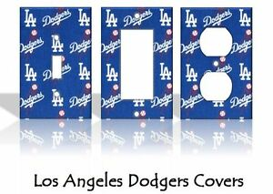Los Angeles Dodgers #2 Light Switch Covers Baseball MLB Home Decor Outlet