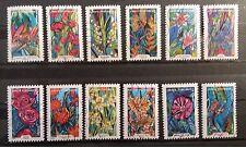 Serie flores de Francia sellos adhesivos 2016