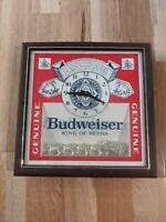 Budweiser Beer Clock Sign 1987 Clydesdales Anheuser Busch