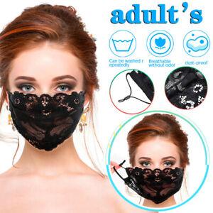 Masque de protection en dentelle de broderie pour femmes Masque de protection