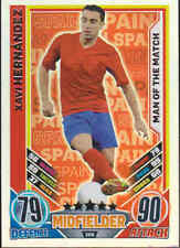 Match Attax 2012 Eurostars XAVI HERNANDEZ ESPAÑA hombre del partido tarjeta No.206