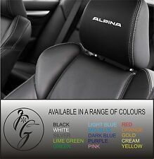 5 alpina car seat head rest decal sticker vinyl graphic logo badge free post