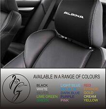 5 alpina car seat head rest decal sticker vinyl graphic logo badge free post
