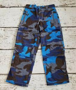 MINI BODEN Boys Blue Camouflage Cotton Lined Skate Pants Elastic Waist 8 NWOT