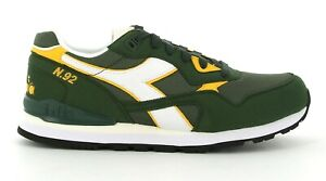 Scarpe da uomo Diadora N92 verde giallo sneakers sportiva passeggio casual nuovo