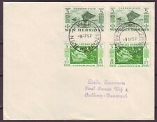 d4851/ New Hebrides Mixed Franking Cover t/Denmark 1957