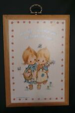 Betsey Clark Plaque vintage Hallmark Let All I Do Each Day Be Done In Love