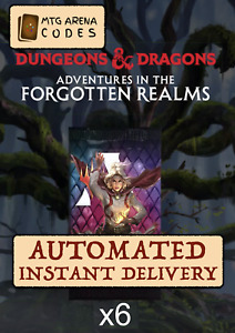MTG Arena Adventures in the Forgotten Realms Prerelease code card 6 booster AFR