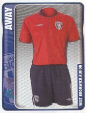 374 AWAY KIT ENGLAND WEST BROMWICH ALBION STICKER FL CHAMPIONSHIP 2010 PANINI