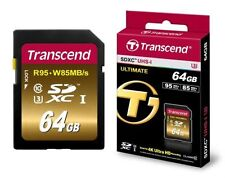 SDXC UHS-I 64GB Camera Memory Cards with High Speed