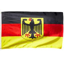BANDERA de Alemania con Águila 90x150 Ojales EUROCOPA MUNDIAL 2018 Banner Fútbol