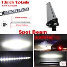 "18W 13"" 6000K Boat LED Work Light Bar Spot Offroad Fog ATV SUV Driving Lamps"