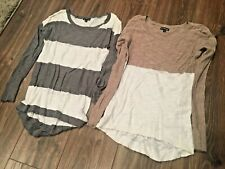 Two (2) Express Women's Long Sleeve Light Tops / Sweaters - Size XS (Ex Small)