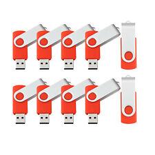 10 Pack 8GB Flash Drives Swivel High Speed Folding Memory Stick Thumb Pen Drives