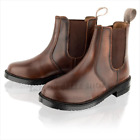 Boys Real Leather Chelsea Kids Smart Ankle Dealer Brown Black Boots Shoes Size