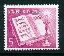 NORFOLK ISLAND 1960 CHRISTMAS SG41 IMPRINT BLOCK OF 4 MNH