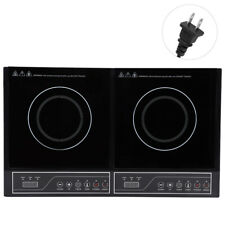 2000W Electric Dual Induction Cooker Counter Double Burner Cook Cooker